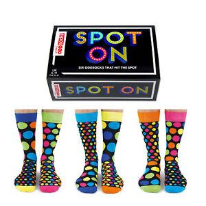Socken Spot On Oddsocks in 39-46 Strümpfe Licht an Oddsocks Punkte im 6er Set