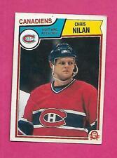 1983-84 OPC # 194 CANADIENS CHRIS NILAN   ROOKIE GOOD ARD (INV# C4161)