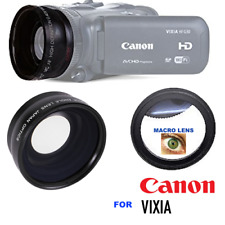 PRO HD WIDE ANGLE LENS + MACRO ATTACHMENT + LENS HOOD FOR CANON VIXIA HF-R800