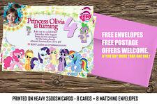 Personalized Birthday Party Invitation My Little Pony.My little pony party x8
