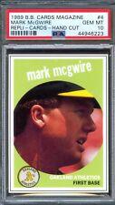 1989 Baseball Cards Magazine Insert #4 MARK McGWIRE Athletics PSA 10 GEM MINT