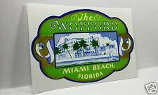 The Wofford Miami Florida Vintage Style Travel Decal / Vinyl Luggage Sticker