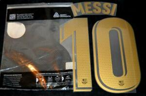 Official Barcelona Messi 10 20/21 Football Name/Number La Liga Gold Player size