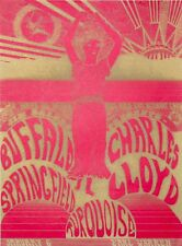 Buffalo Springfield-Charles Lloyd-Turquoise Second printing concert poster 1967