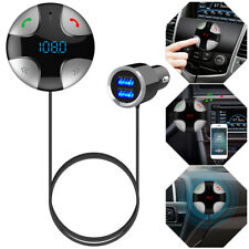 Gray Handsfree Wireless Bluetooth Fm Transmitter Usb Charger Tf Card Mp3 Player