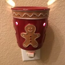 "Scentsy Plug In ""Gingerbread"" Wax Warmer Mini Warmer For The Wall New In Box"