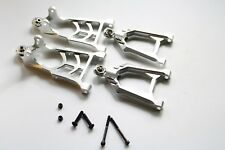 CNC Alloy Front Suspension A Arm set Upper/Lower fits HPI Baja 5B 5T 5SC Silver