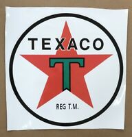 "TEXACO DECAL APPROXIMATELY 11"" TALL * Gas & Oil / GAS PUMP STICKERS / PETRO"
