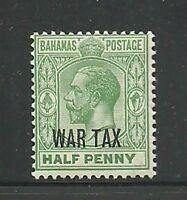 Album Treasures Bahamas Scott # MR6  1/2p George V War Tax  Mint H