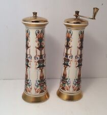 Vintage LIDO by Lenox Salt Shaker & Pepper Mill Set Decorated with 24k Gold