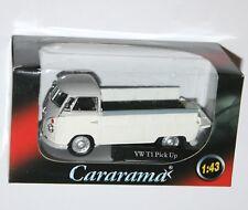 Cararama - VW Volkswagen T1 PICK UP (White/Grey) Model Scale 1:43