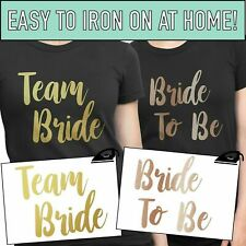 Team Bride Iron On T Shirt Transfer Bride To Be Tribe Squad Hen Do Party Vinyl