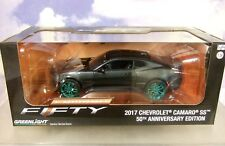 1/24 Greenlight 2017 Chevrolet Chevy Camaro Ss 50th Anniv. Édition Vert Roues