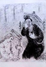 Marc Chagall offset lithograph Bible  paris maeght 1960 original  2 sided 134