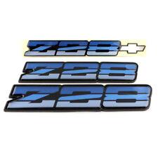 82-87 Camaro Z28 OEM Tri Color Blue Rocker Emblem Set *Z28TRIBLUEOEREP