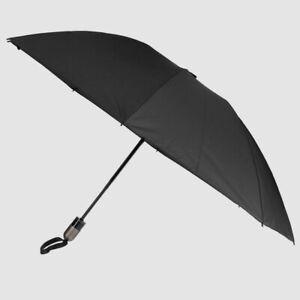 $215 Shedrain Black Automatic Open Reverse Close Rain Compact Folding Umbrella