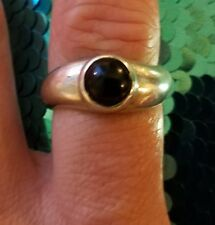 Black Onyx  Sterling Silver Swirl Band Ring Size 7.5. BOMA 925