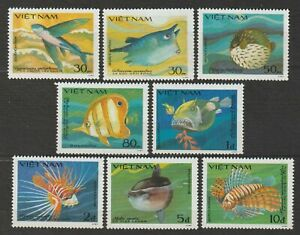 1984 Vietnam Stamps Complete Fish Collection Sc # 1397-1404 MNH
