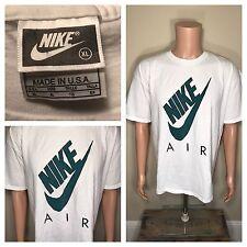 VTG 90s NIKE AIR Swoosh Big Logo Made In USA T-Shirt Hip Hop Jordan Tennis XL OG