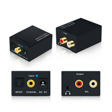 3.5mm Toslink SPDIF Fiber Coaxial RCA Stereo Digital to Analog Audio Converter l