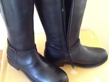 girls genuine leather classic riding /winter boots,black ,sizes,11.5 - 2(30-34)