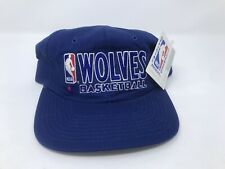VTG Champion Minnesota Timberwolves NBA Snapback Hat NWT Deadstock 90's Blue