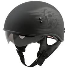 NEW GMAX Gm65 HALF HELMET RITUAL SKULL NAKED MATTE Motorcycle Helmet CRUISER