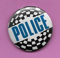 "THE POLICE AUTHENTIC VINTAGE 80s PINBACK 1.25"" BUTTON VERY GOOD STING"