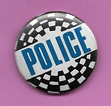 """The Police Authentic Vintage 80s Pinback 1.25"""" Button Very Good Sting"""