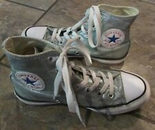Converse All-Star Chuck Taylor Hi-Top Silver Sparkly #154035F Size 4.5M 6.5W
