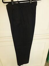 Talbots Ladies Black Trousers SZ 10 Stretch & Washable! Full Length Business
