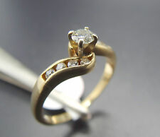 .50ct Swirl Bypass Right Hand Diamond 14k Gold Ring