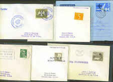 WORLDWIDE 1950's SIX PAQUEBOTS SHIP MAIL COVERS SWEDEN,
