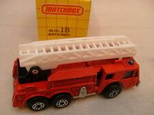 1982 MATCHBOX SUPERFAST #18 FIRE ENGINE LADDER TRUCK NEW MIB