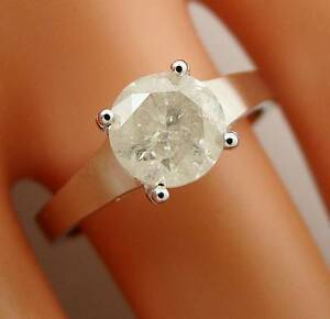 1.16 ct solitaire real diamond wedding engagement ring 14k white gold ring