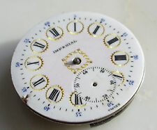 Antique BUREN Swiss GOLD Enamel Porcelain Pocket Watch 7 Jeweled Face No Case