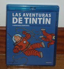 TINTIN-VOLUMEN 5º-COMBO BLU-RAY+DVD-3 AVENTURAS-NUEVO-PRECINTADO-NEW-SEALED