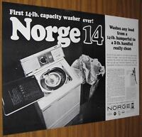 1963 VINTAGE AD~NORGE 14 WASHING MACHINE~14-LB CAPACITY WASHER