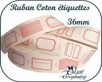 RUBAN POUR ETIQUETTES A DECOUPER 100% COTON COUTURE SCRAPBOOKING SCRAP CONFITURE