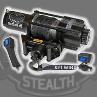 3500 lb KFI Stealth ATV UTV Winch Kit Combo with Synthetic Cable/Rope