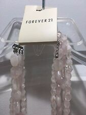 New forever21 pale pink necklace