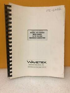 Wavetek 950 Series Micro Source Instruction Manual