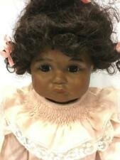 PARIS SFBJ REPRODUCTION POUTY DOLL RARE AFRICAN AMERICAN W BISQUE HEAD