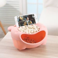 Lazy Fruit Plate Phone Stand Plastic Double Layer Candy Peel Seeds Dish Storage