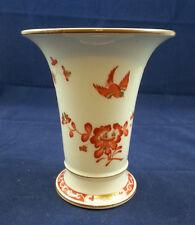 Wonderful Meissen Orange, Brown & Gold Kakiemon Vase #1