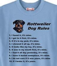 Dog T-Shirt - Rottweiler Dog Rules  --------  Short Sleeve