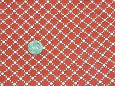 Vintage Feedsack Fabric: White Polka Dot Lines on Red 27x37 in.