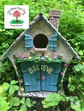 Believe Cottage - fairy garden house - opening door - fairies decor craft