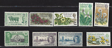 Falkland Islands, lot of 9 Mint stamps, see scan