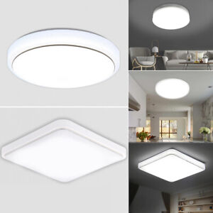 Bright Round LED Ceiling Light Panel Down Lights Living Room Bathroom Wall Lamp